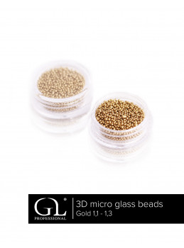 3D Micro Glass Beads 1,1 - 1,3 GOLD