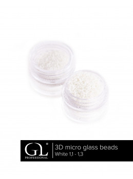 3D Micro Glass Beads 1,1 - 1,3 WHITE