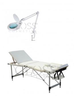 Massage bed - Beige + Lupe...