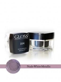 Nude - White Metallic 104