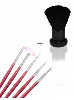 Gel pencil sett + Dust Brush