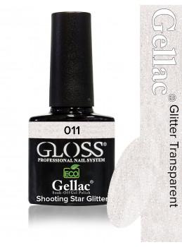 Gellac 011 / D104N Shooting Star Glitter gjennomsiktig farge