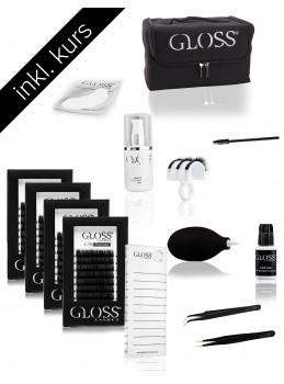 Kurs Pakke Gloss Lashes 3-7D Volume teknikk set BASIC PLUS