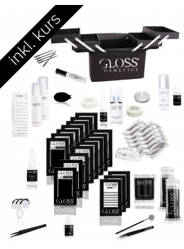 Course Set Gloss Lashes 3-7D Volume technique set...