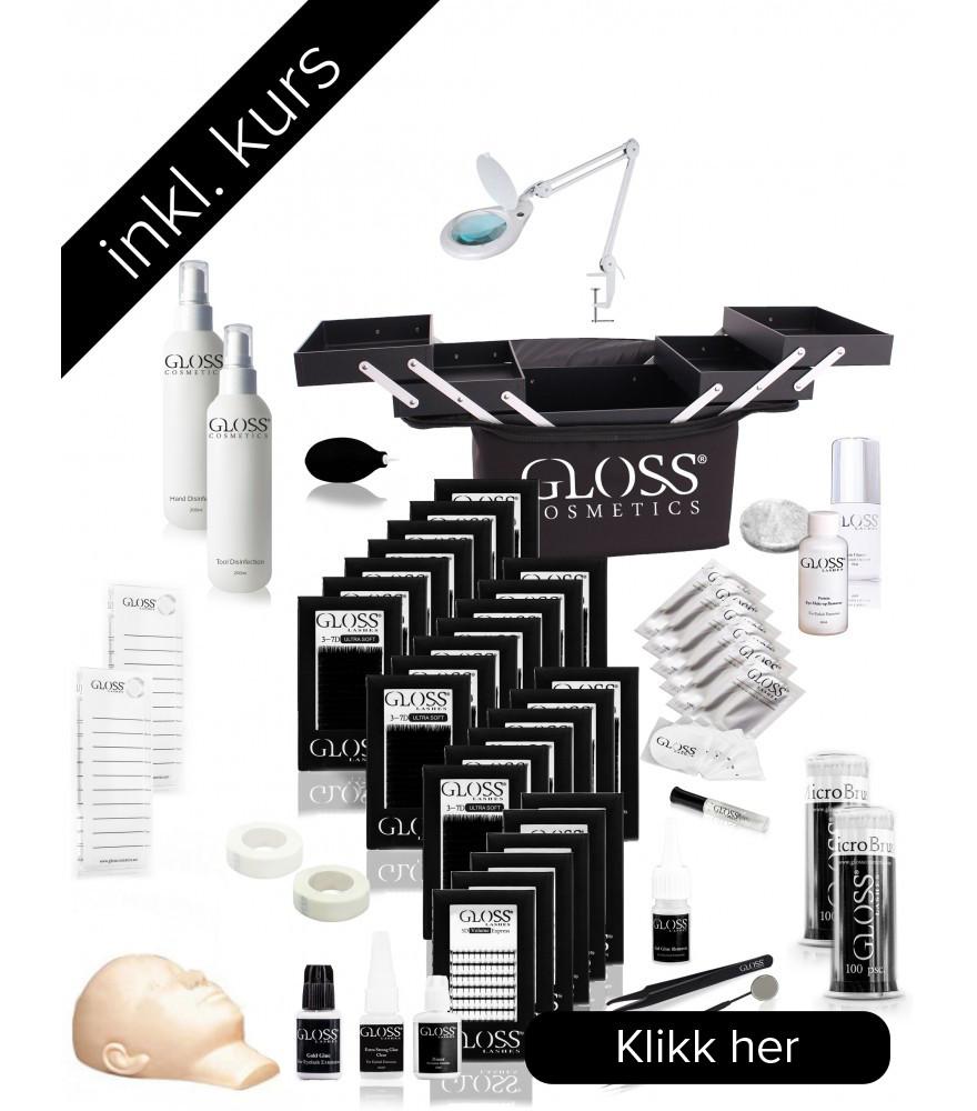 Kurs Pakke Gloss Lashes 3-7D Volume teknikk set PRORESJONELL+